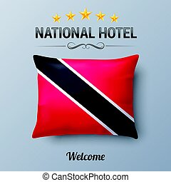 National Hotel - Realistic Pillow and Flag of Trinidad and...