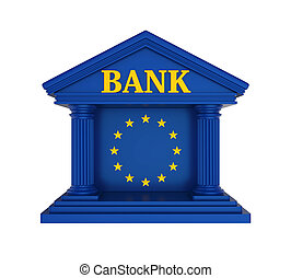 European Union Bank Building Isolated - European Union Bank...