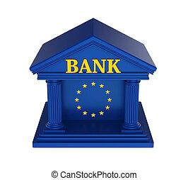 European Union Bank Building Isolated - European Union Bank...
