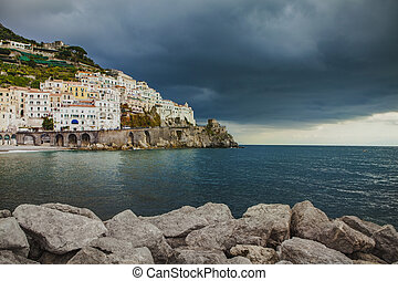 beautiful scenic of amalfi coast in south italy most popular...