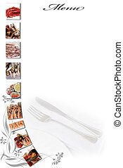 Menu for restaurants 13. - Menu card with a copy space for...