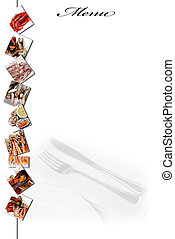 Menu for restaurants 12. - Menu card with a copy space for...