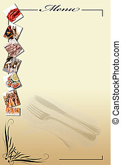 Menu for restaurants 11 - Menu card with a copy space for...