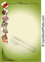 Menu for restaurants 9 - Menu card with a copy space for...