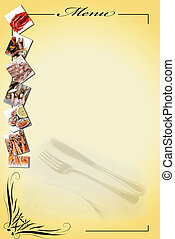 Menu for restaurants 8. - Menu card with a copy space for...