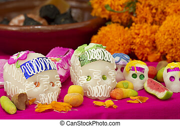 Day of the Dead Mexican Offering - Mexican offering for the...