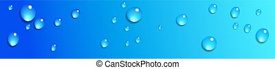 Water Droplets Web Banner Background
