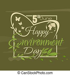 World Environment Day lettering card - World Environment Day...