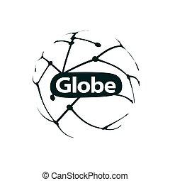 vector logo globe - template logo design globe. Vector...
