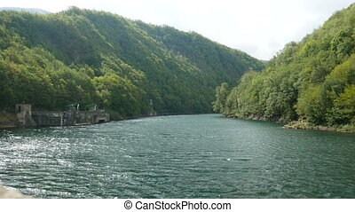 Basin of the dam of Pavana, Italy - Basin of the dam of...