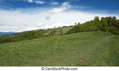 Mountains landscape in spring in northern Italy - Tall...
