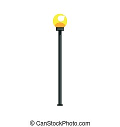 Street lamppost vector Illustration isolated on a white...