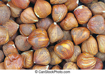 Close view of filbert nuts