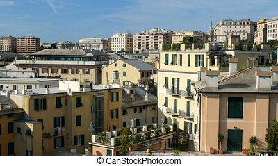 Buildings in downtown Genoa, Italy - Buildings, seen from...