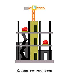 Building construction vector Illustration isolated on a...