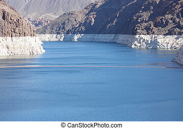 Lake Mead at Hoover Dam Low Water - Low water levels are...