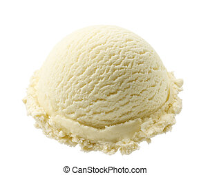 vanilla ice cream - scoop of vanilla ice cream isolated on...