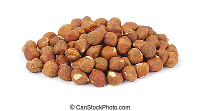 Large portion of filbert nuts