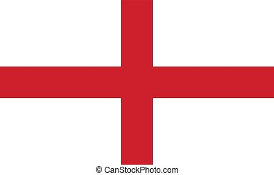 Flag of England, vector illustration official symbol of the...