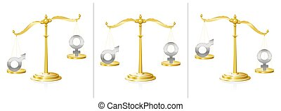 Equal Rights Scale Women Men