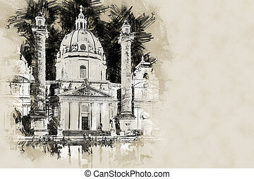 Karlskirche or St. Charles's Church - one of famous churches...
