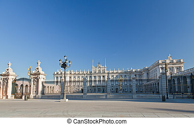 The Royal Palace in Madrid City Spain