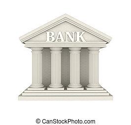 costruzione, isolato, banca