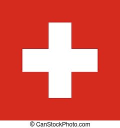 Swiss flag, vector illustration official symbol of the state