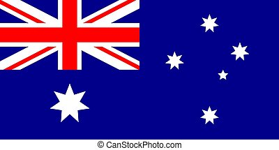Australia flag vector illustration - Australia flag official...