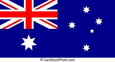 Australia flag vector illustration - Australia flag official...