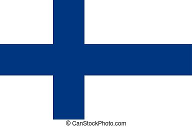 Flag of Finland, vector illustration official symbol of the...