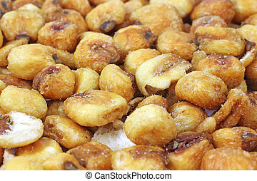 Layer of roasted salted corn nuts