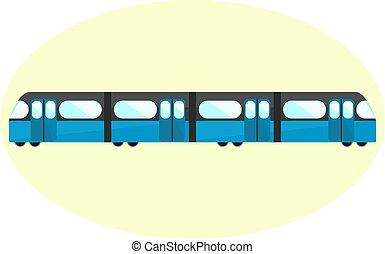 Flat blue undeground icon, subway symbol, city public...