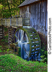 Old Grist Mill Water Wheel - Water still flows and still...