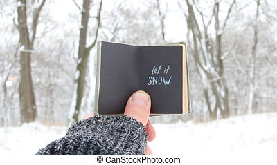 Let it snow, book with inscription