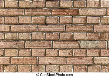 old red brick wall background - pattern of old red brick...