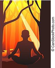 Meditation of man