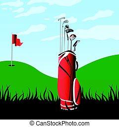 Golf field landscape
