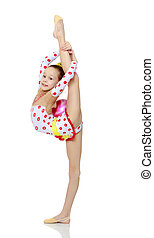 Gymnast does the splits - Beautiful little girl gymnast...
