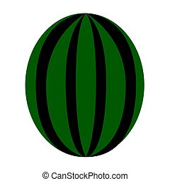 Isolated watermelon illustration - Isolated watermelon on a...