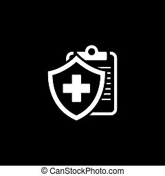 Medical Insurance Icon. Flat Design. - Medical Insurance...