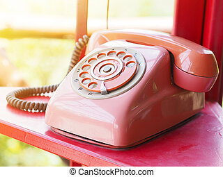 retro red telephone