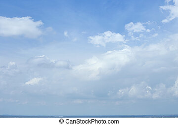 blue sky clouds - blue sky with clouds summer background