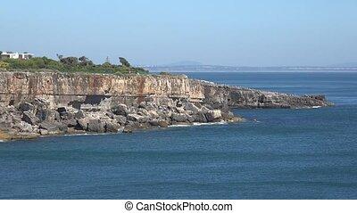 Vista Of Cliffs And Blue Ocean Water