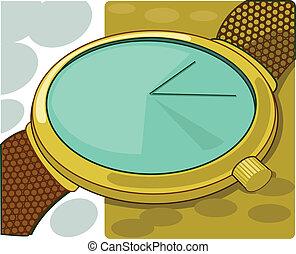 Brown wrist watch