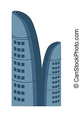 Business centre isolated vector icon