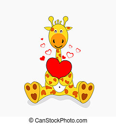 Giraffe - giraffe in love