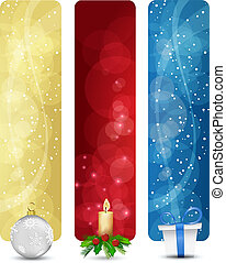 set of winter christmas vertical banners vol. 01