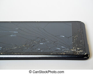 broken display of smart phone
