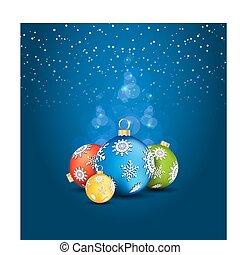 Deco, 背景, クリスマス, ボール